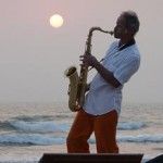 Sunset saxophonist (no, he's not playing every night)