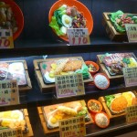Lifelike plastic food display (point to order, like in Japan)