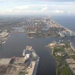 North towards Fort Lauderdale (FLL is actually Fort Lauderdale-Hollywood airport)