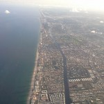 Hollywood FL from the air (the intra-coastal waterway is clearly visible)