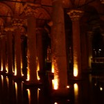 Basilica cistern - huge underground water storage with lots of pillars