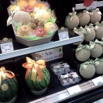 Pretty wrapped fruit in an upscale supermarket