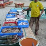 Fresh fish selection at a resto on the beach