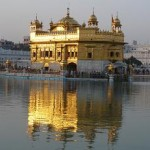 Golden Temple at sunset