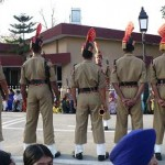Indian border guards lined up