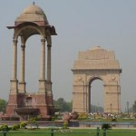 India Gate (the right structure; a war memorial)