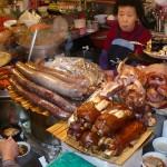 Scary meats in Gwangjang Market