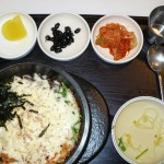 Vegetarian bibimbap lunch with banchan on DMZ tour (W10000/$9) inc. a soft drink