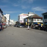 Lebuh Chulia - busy street with buses and hawker carts (my room was close to this intersection)