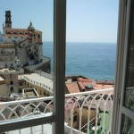 View from our hotel room in Atrani