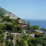 Cool-looking hotel between Positano and Praiano (which is in the background)