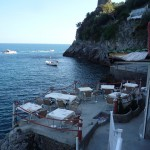 Our resto deck after the sun went behind the hill, killing any notion of gelato or coffee after our late lunch (~16:30)