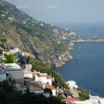Eastern end (#2) of Praiano as seen from central Praiano (with Amalfi Town hidden around the headland in the distance)